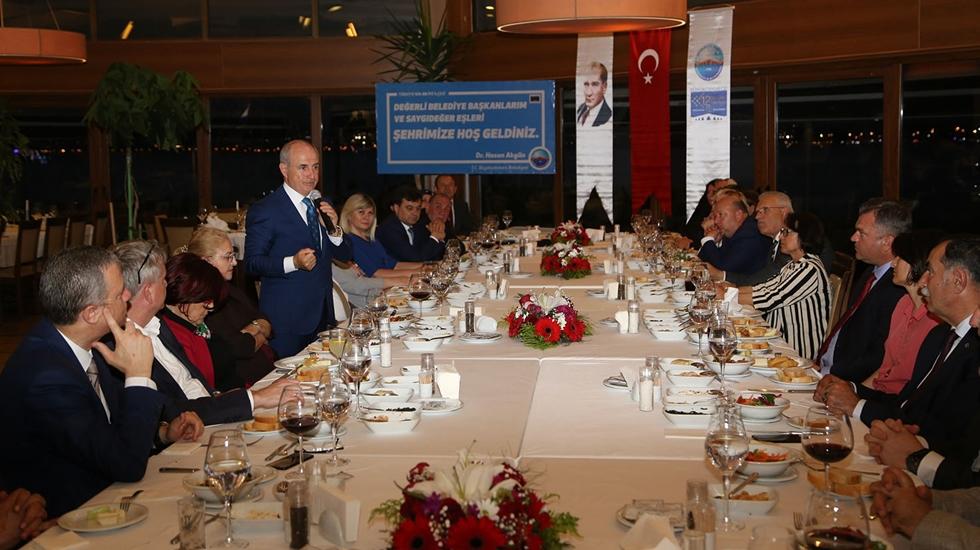Hasan Akgün, Trakya'lı belediye başkanlarını ağırladı