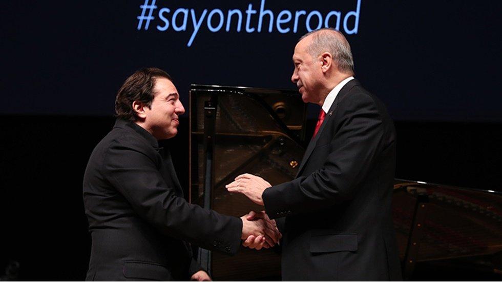 Erdoğan, Fazıl Say konserine katıldı