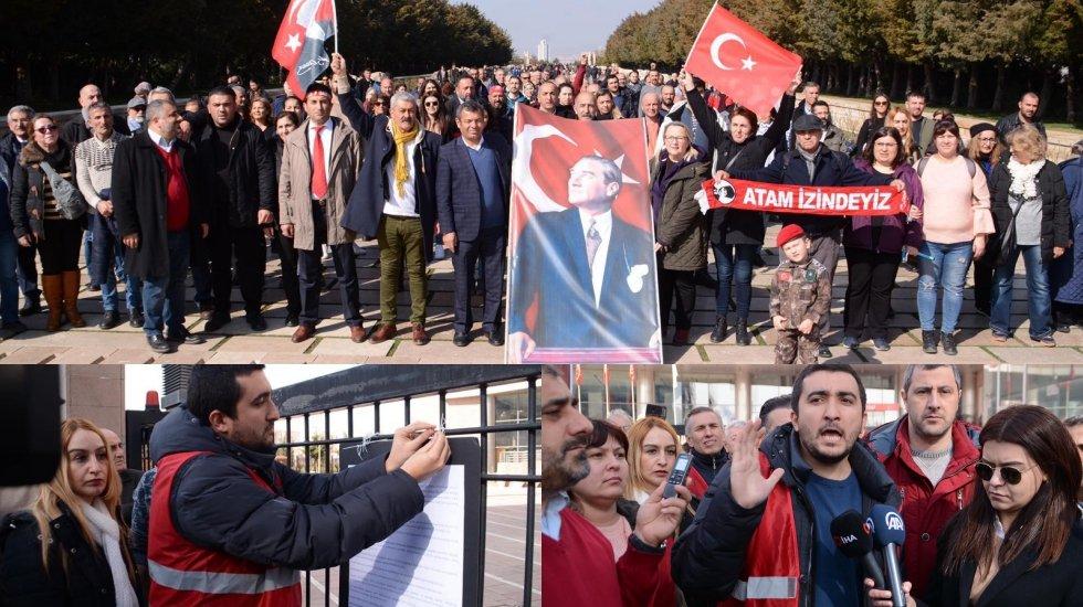 İstanbul'dan Ankara'ya yürüyen CHP'lilerden 'Temiz toplum - temiz siyaset' bildirgesi