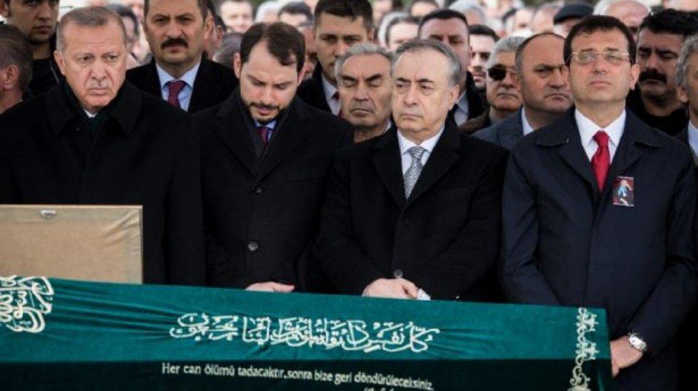 Erdoğan ve İmamoğlu cenazede bir araya geldi