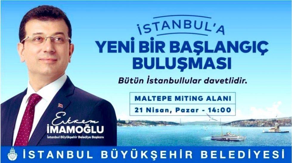 Maltepe miting alanında 'İstanbul'a yeni bir başlangıç' buluşması