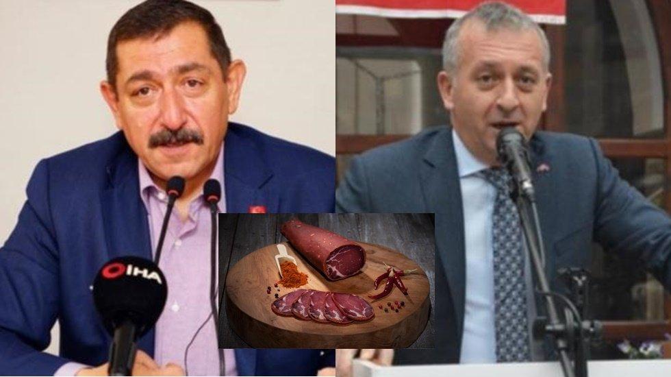 """MHP İl Başkanı AKP'ye sordu: """"Nerede yediniz 100 bin liralık pastırmayı?"""
