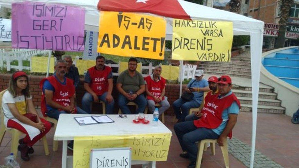 MHP'li Aliağa Belediyesinde işçiler direniş nöbeti başlattı
