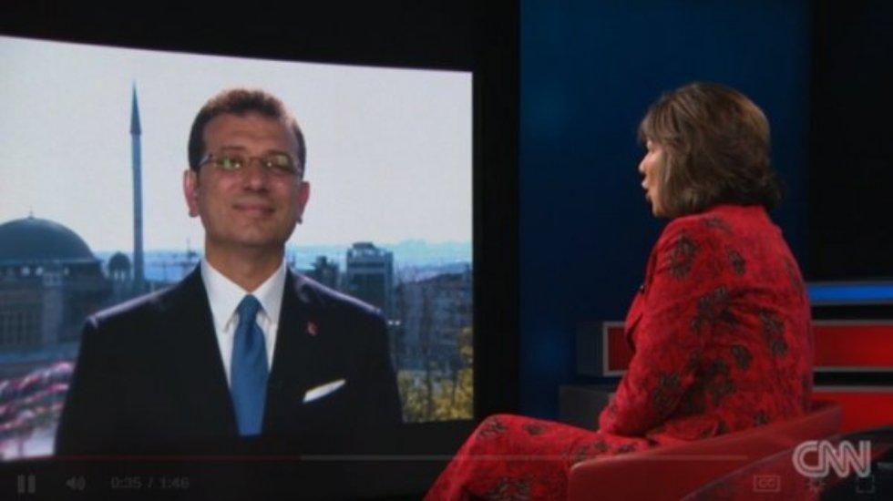 Başkan İmamoğlu, CNN International'a konuştu