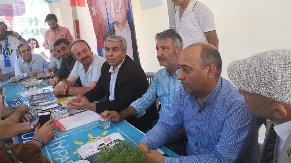 Cemal Canpolat Şişli'de İYİ Parti standını ziyaret etti