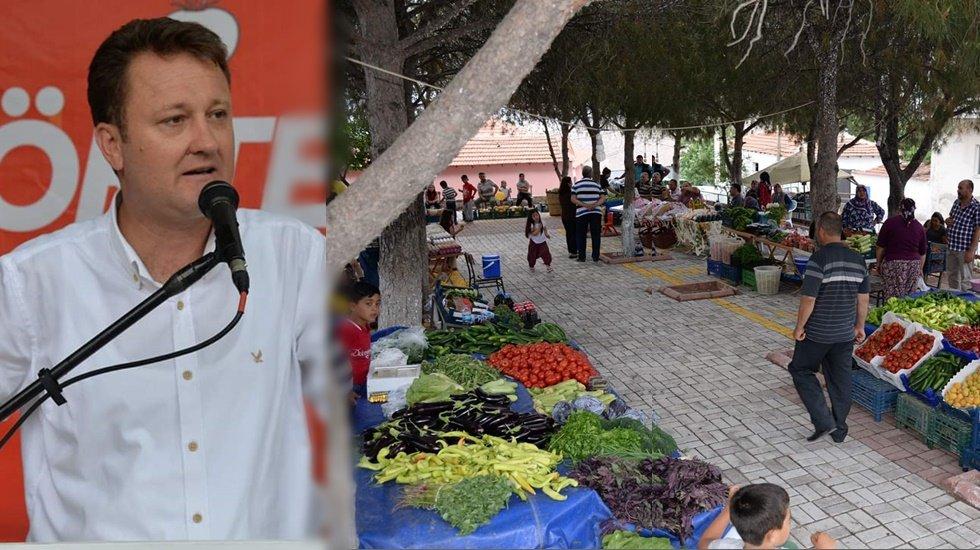 """Menemen'in ilk kez """"Organik Köy Pazarı"""" açıldı"""