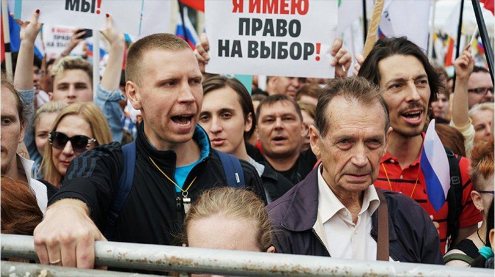 Rusya'da muhalifler özgür ve adil seçim talebiyle sokağa çıktı