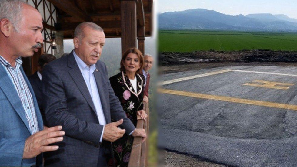 Cumhurbaşkanı Erdoğan yaylaya helikopter pisti istedi