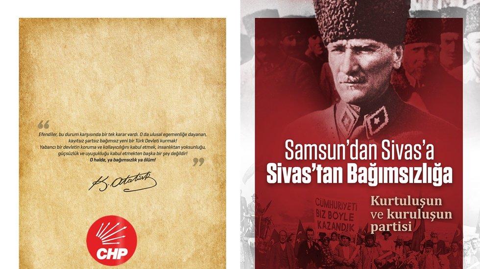 CHP'den kurtuluşun ve kuruluşun broşürü