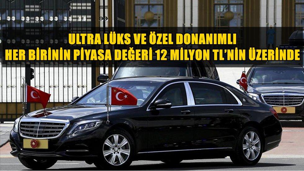 Cumhurbaşkanlığına alındığı iddia edilen ultra lüks araçlar Meclise taşındı
