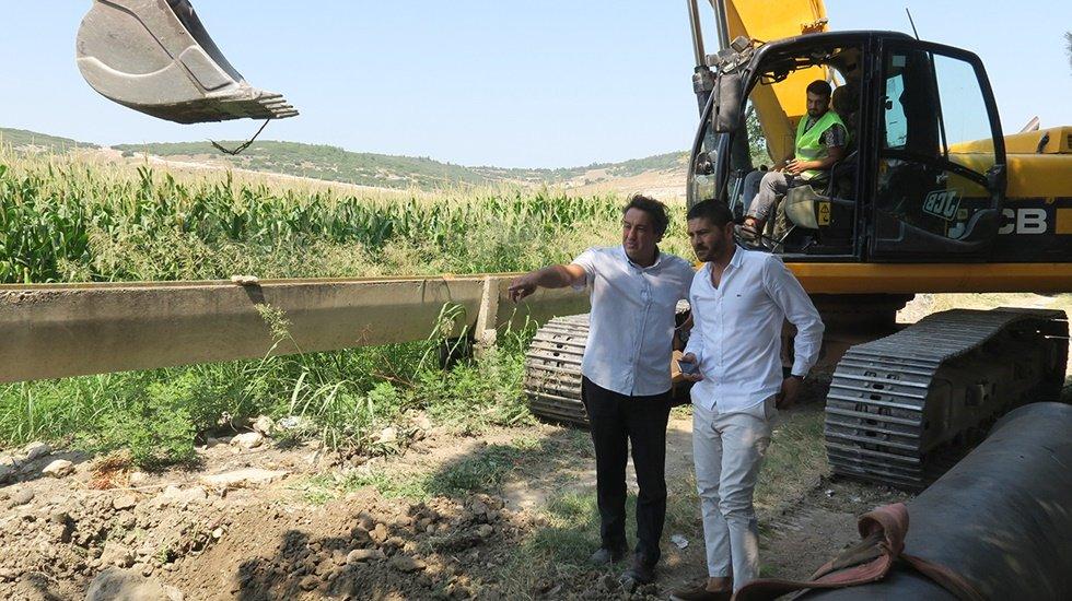 Foça'da yeni içme suyu hattı için çalışmalar başladı